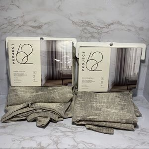 """Project 62 Gray Clipped 84"""" Linen Curtain Panels"""